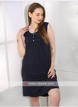 Women blue color short nighty