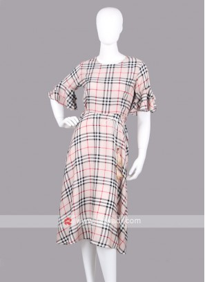 Women Checked Fit & Flare Dress