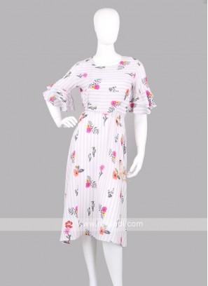 Women  Floral Print Fit & Flare Dress