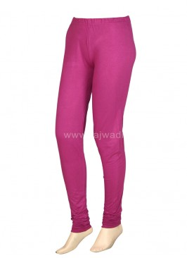 Women Hot Pink Hosiery Leggings