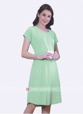 Women Light green color short nighty