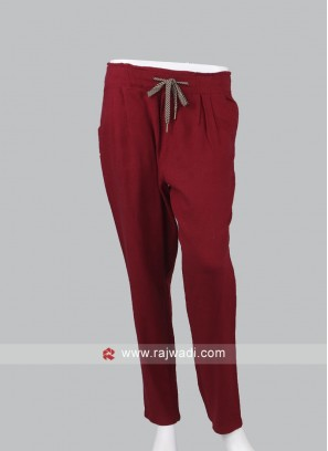 Women maroon pyjama