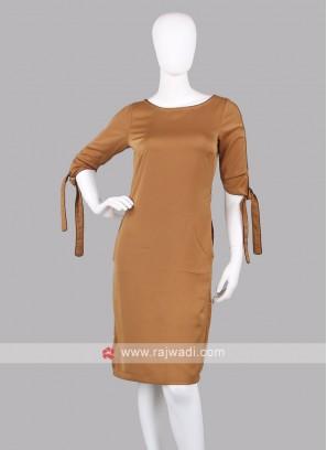 Women Mustard yellow Stright Dress