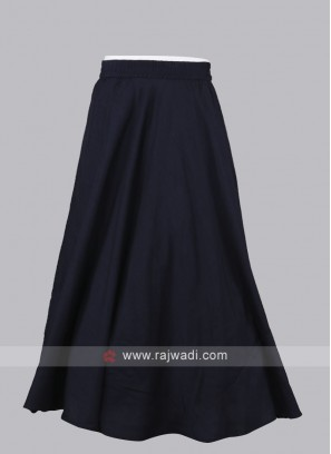 Women Navy Blue Solid Maxi Flared Skirt