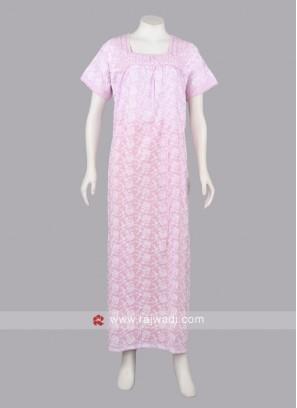 Women pink color nighty