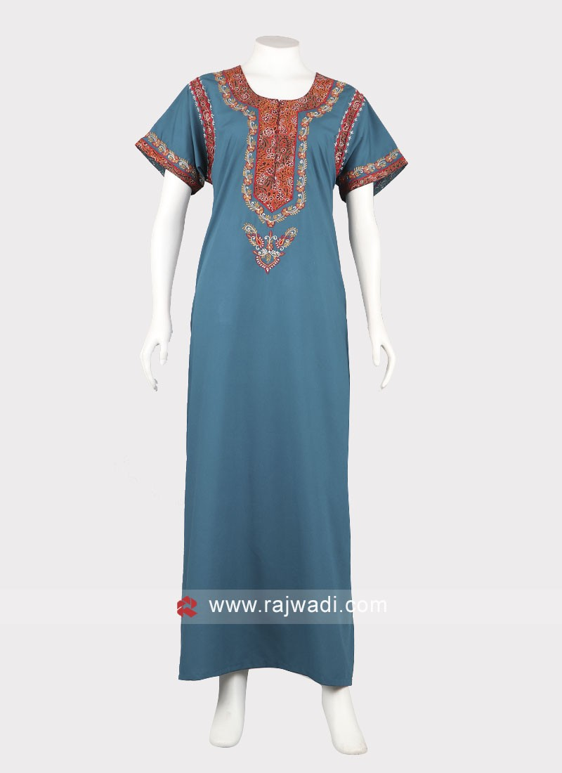 Women rama blue nighty