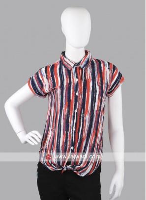 Women rust printed shirt