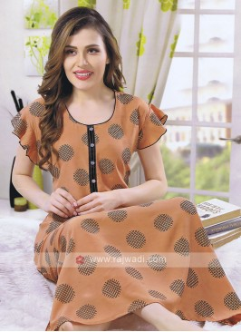 women rust color nighty