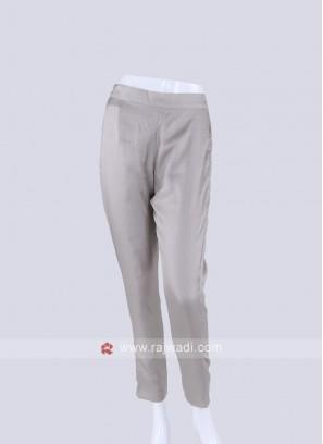 Women Silver Regular Fit Solid pyjama