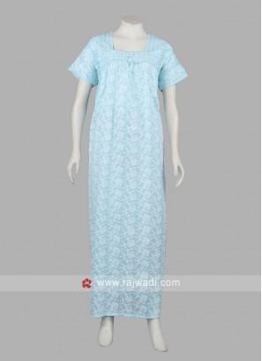 Women sky blue color nighty