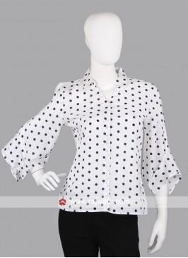 Women white and black casual shirt