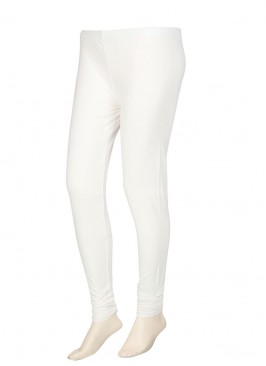 Women White Hosiery Leggings