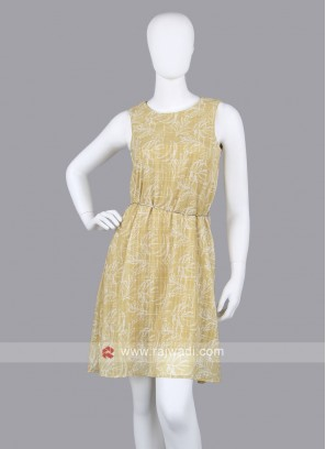 Women yellow Floral Print Fit & Flare Dress