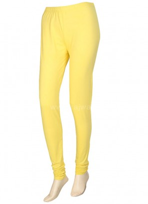 Women Yellow Hosiery Leggings