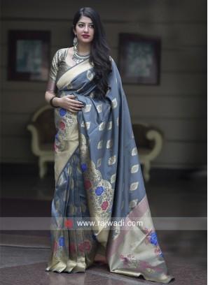Womens Banarasi Silk Woven Saree