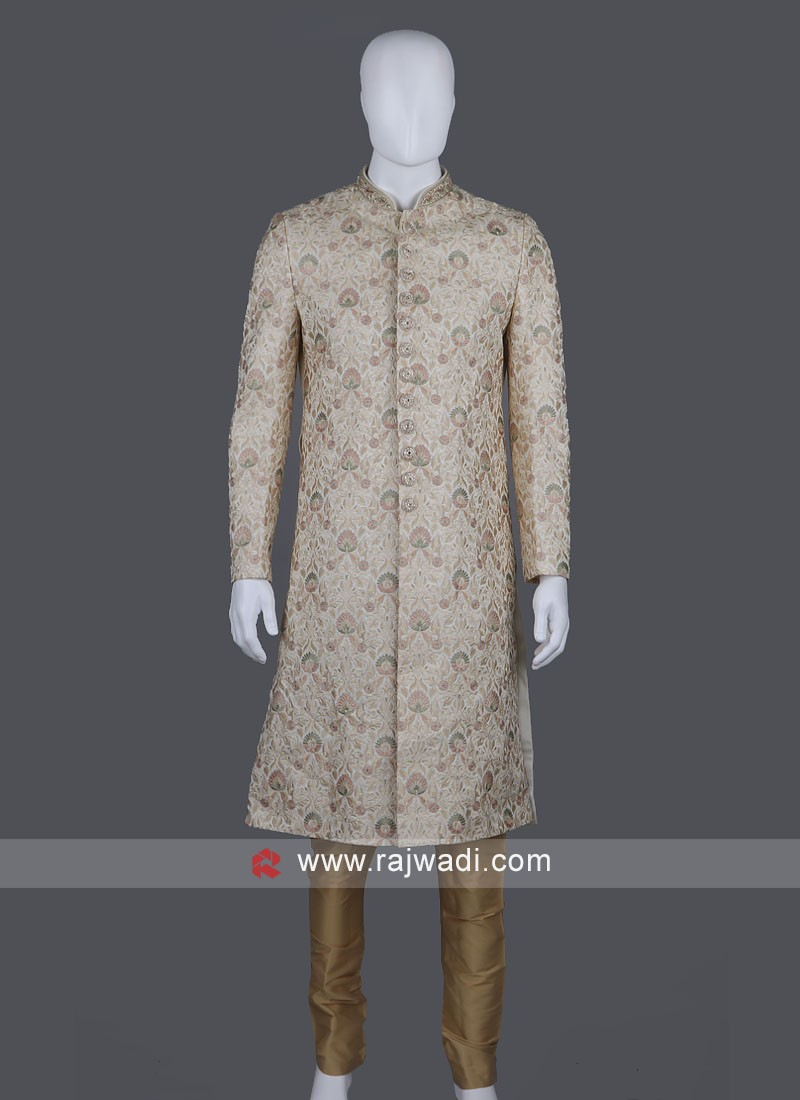 Wonderful Art Silk Sherwani