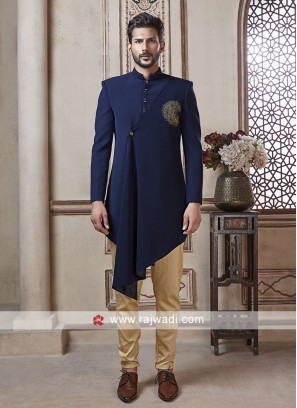 Wonderful Blue Color Indo Western
