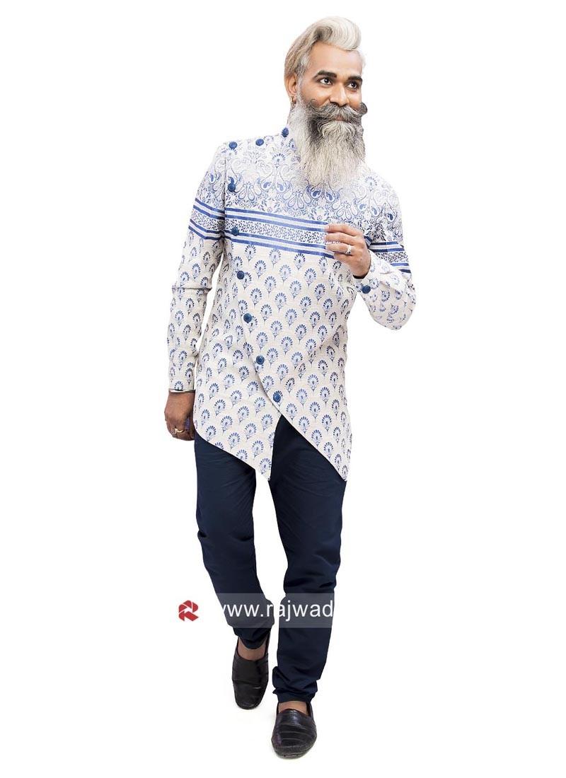 Wonderful Linen Fabric Indo Western