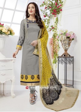 Cotton Silk Zari Work Salwar Suit