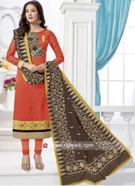 Readymade Resham Work Churidar Suit