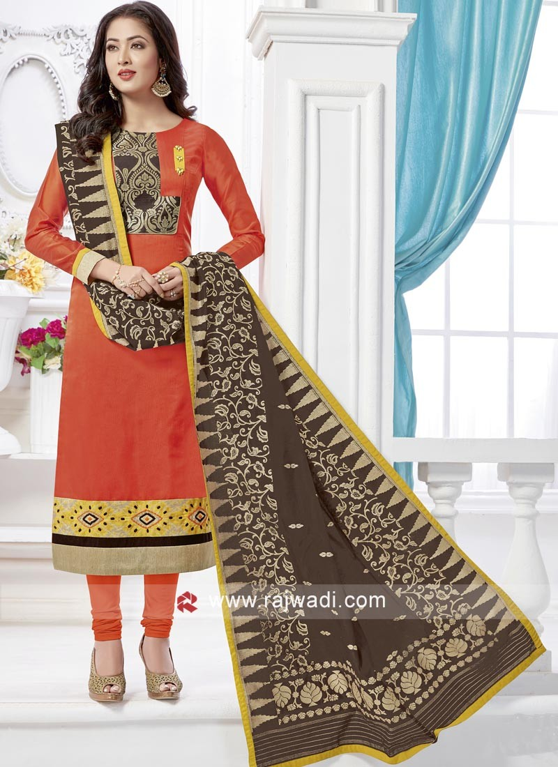 Readymade Resham Work Churidar Suit