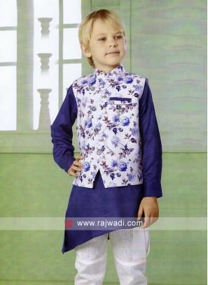 Wonderful Flower Print Nehru Jacket