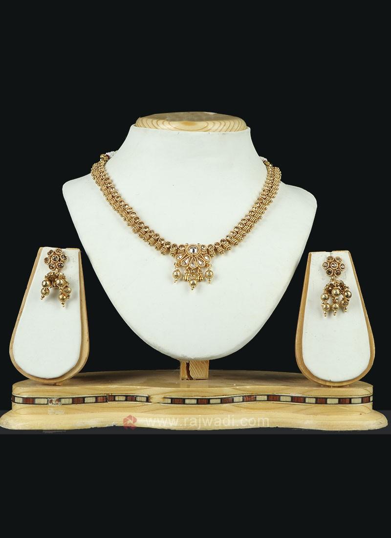 Wonderful Golden Necklace Set