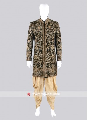 Wonderful Green Sherwani Suit