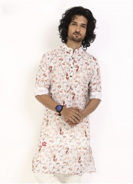 wonderful leaf printed kurta