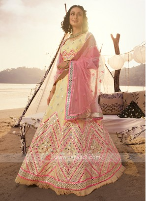 Wonderful Light Yellow Lehenga Choli
