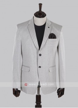 wonderful off white striped blazer