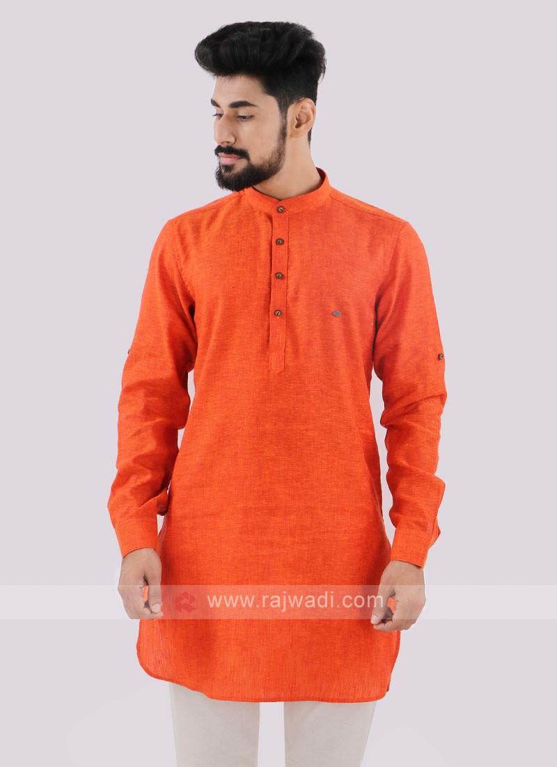 Wonderful Orange color Kurta