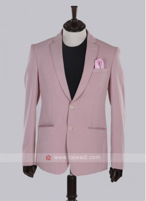 wonderful pink jute silk blazer