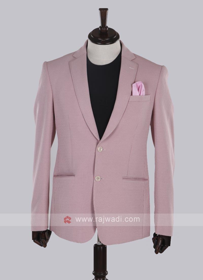 wonderful pink jute silk blazer