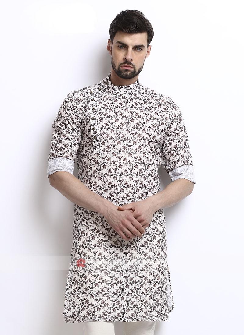 Wonderful printed mens kurta