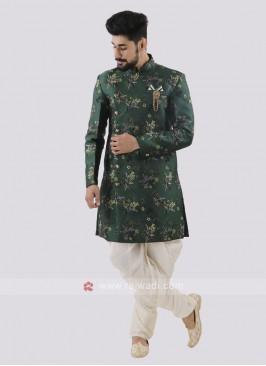 Wonderful Printed Patiala Suit For Men