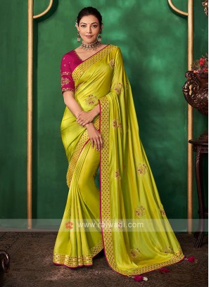 Wonderful Satin Silk Saree