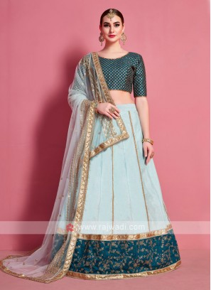 Sea Green And Rama Green Lehenga Choli
