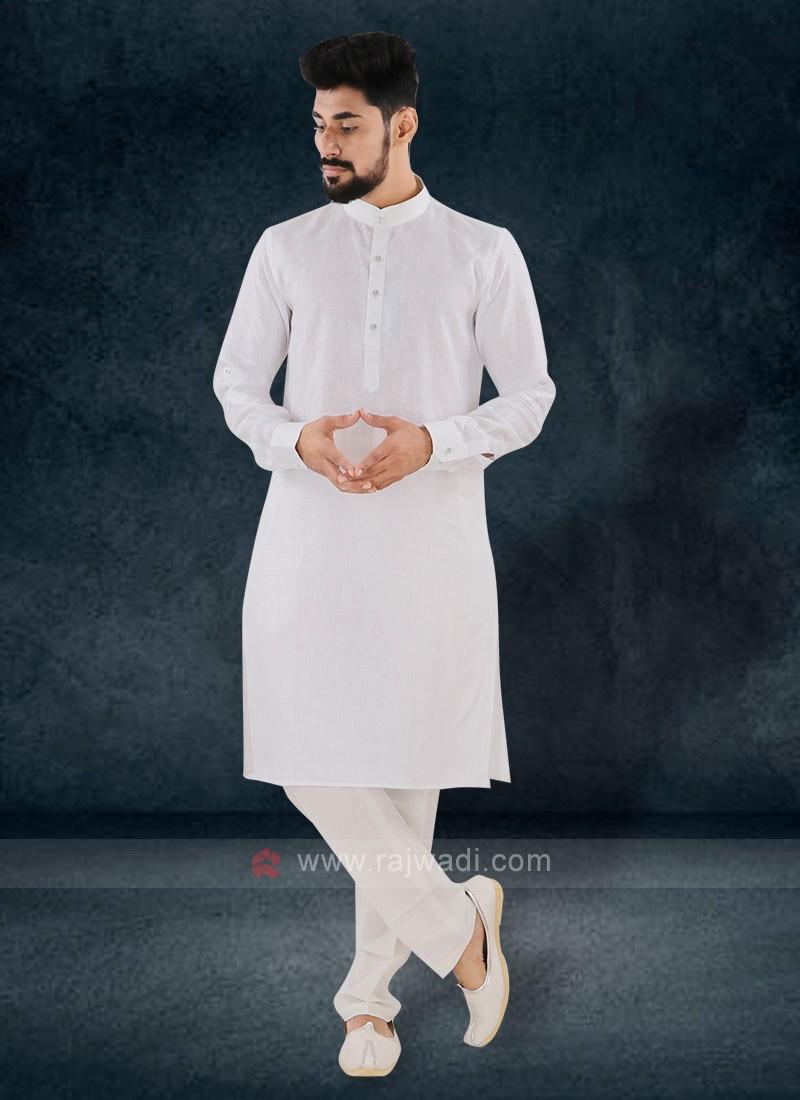 Wonderful White Color Kurta Set