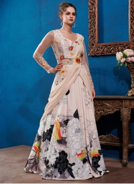 Wonderous Fancy Fabric Designer Gown