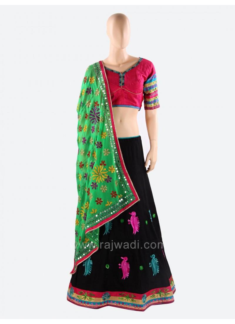 Woolen Work Traditional Chaniya Choli