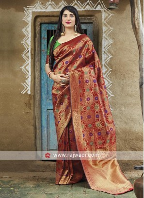 Woven Work Banarasi Silk Saree