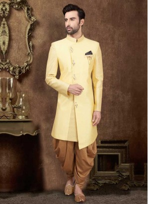 Yellow And Golden Indo-Western