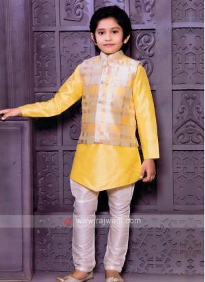Yellow Boys Nehru Jacket