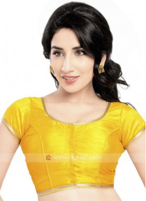Yellow Brocade Ready Blouse