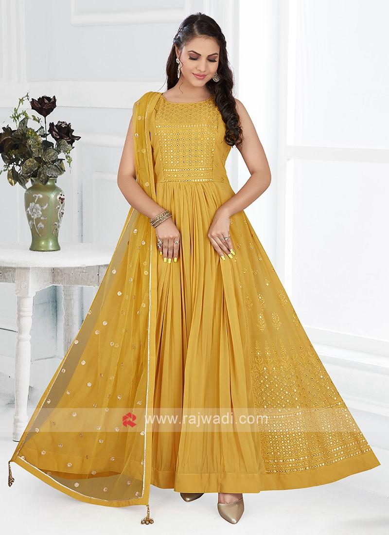 Yellow Color Anarkali Suit