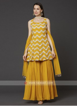 Yellow Color Gharara Suit