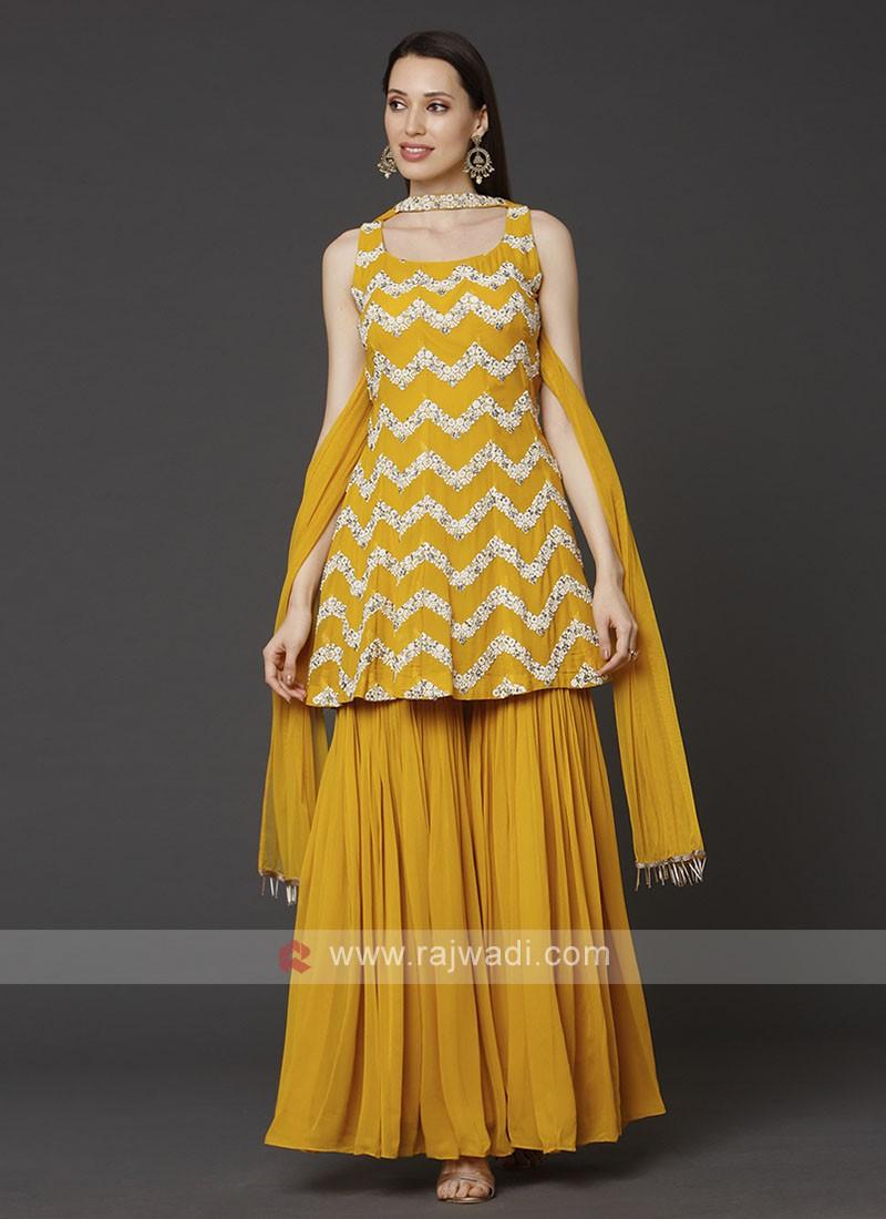 Yellow Color Gharara Suit