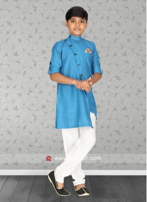 Attractive Sky Blue Color Kurta Set