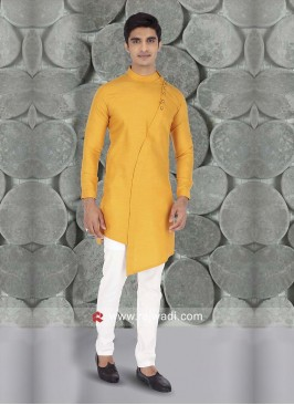 Mustard Yellow Color Kurta Set For Wedding